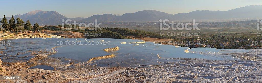 Pamukkale-Hierapolis - Panoramic stock photo