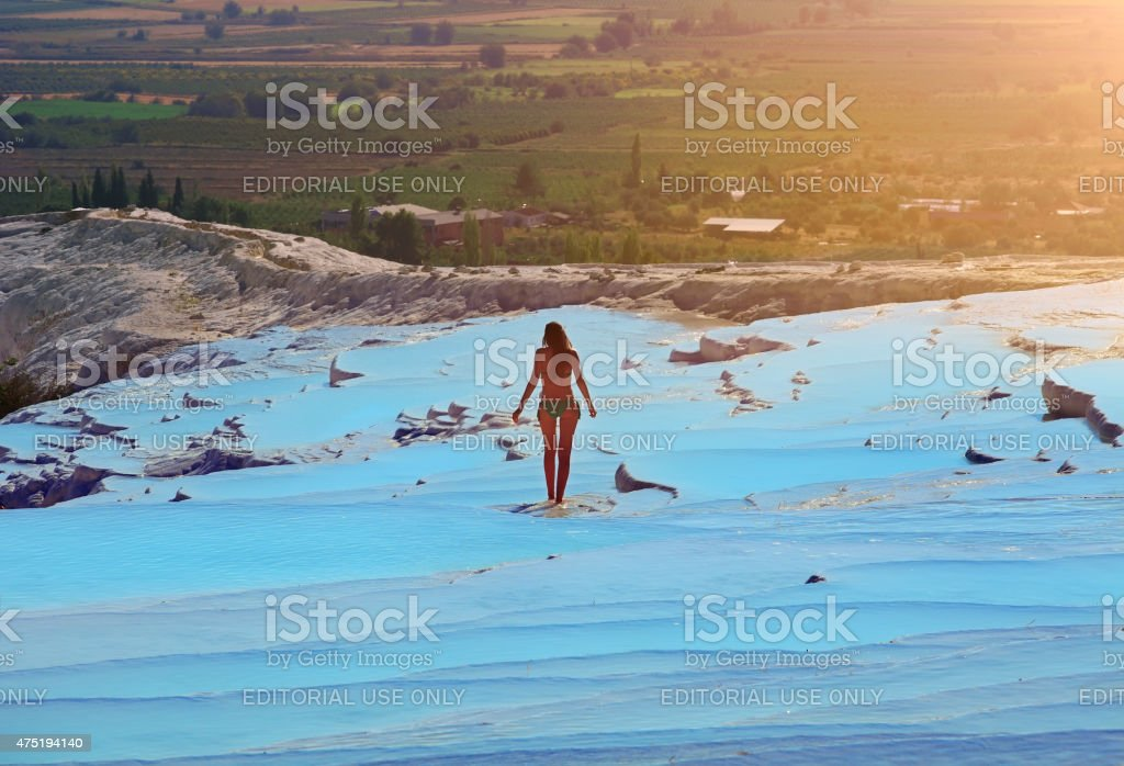 Pamukkale-Hierapolis stock photo