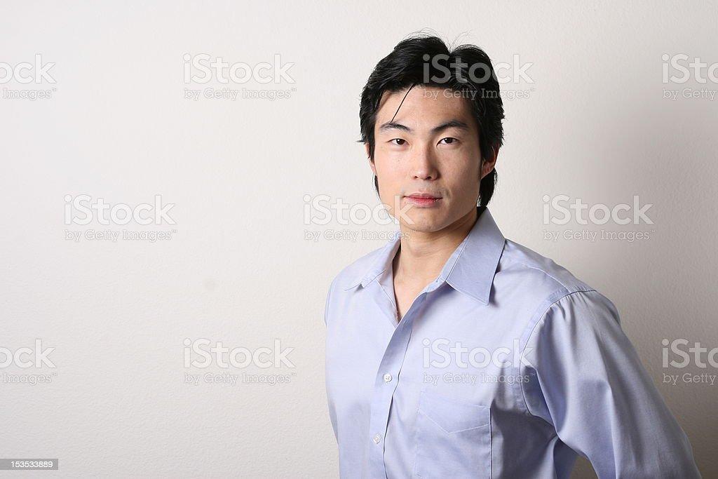 Pan Asian male model stock photo