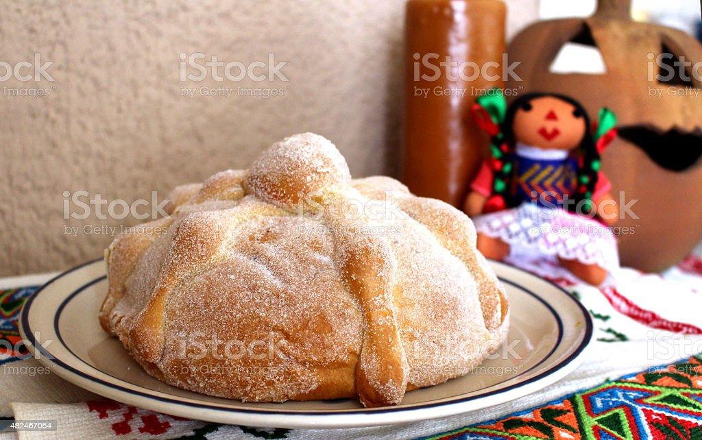 Pan de muerto stock photo