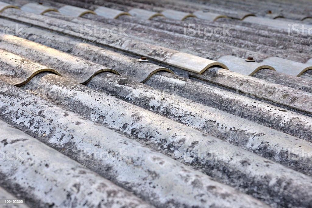 Pan decking roof surfacing metal sheets royalty-free stock photo