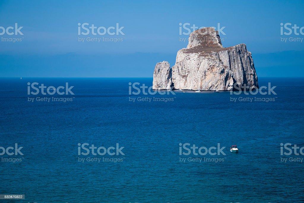 Pan di Zucchero rocks in the sea, Masua (Nedida), Sardinia stock photo