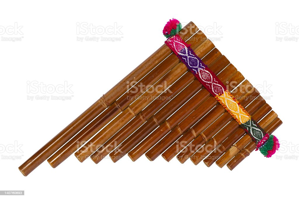 Pan Flute stock photo