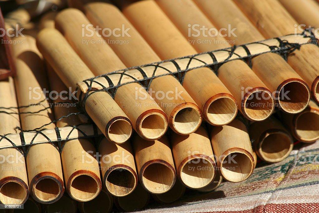 Pan flutes stock photo