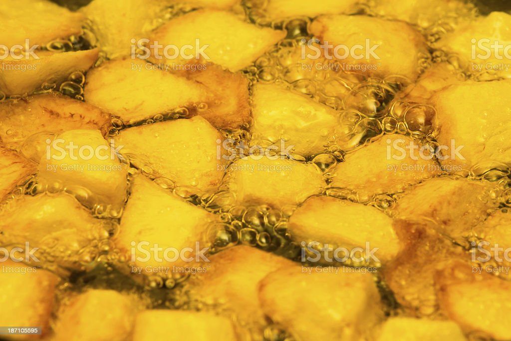 pan fried potatoes royalty-free stock photo