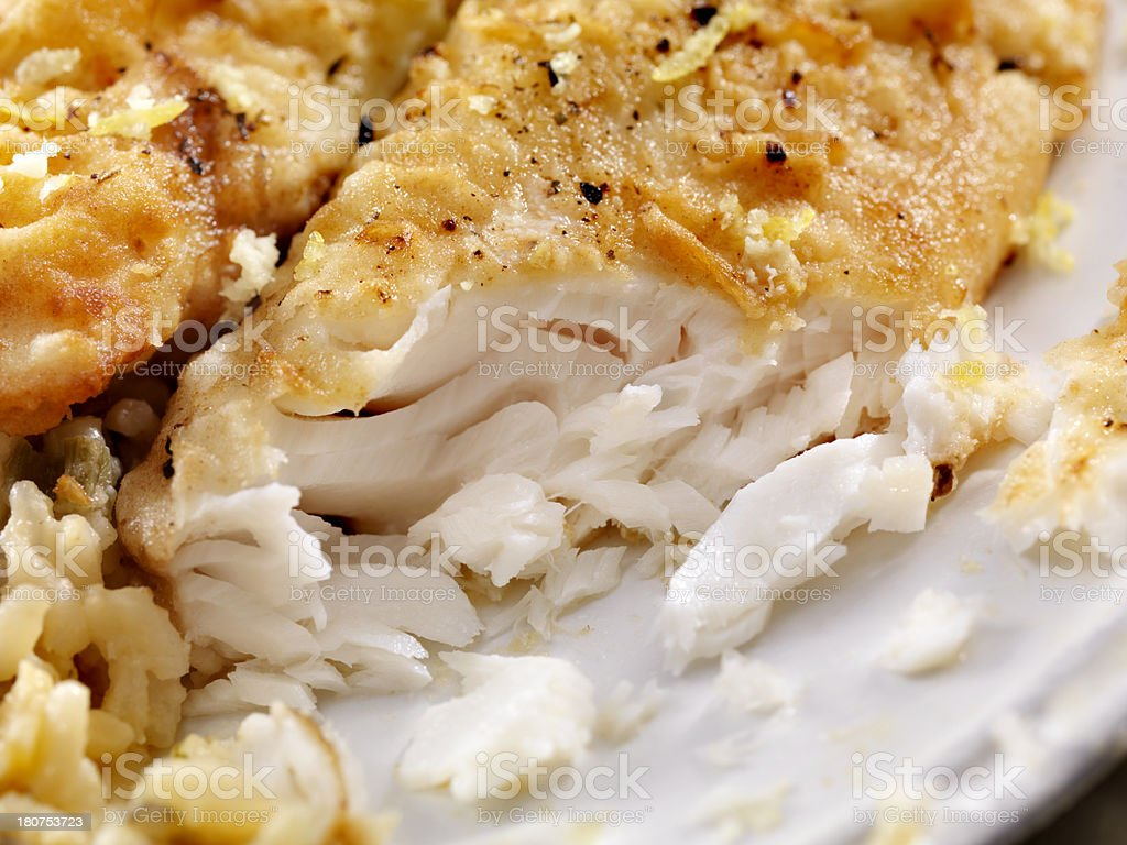 Pan Fried Tilapia Fish royalty-free stock photo