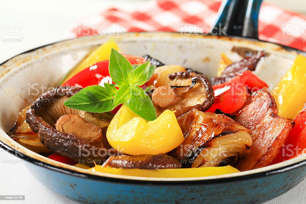 Pan fried vegetables royalty-free stock photo