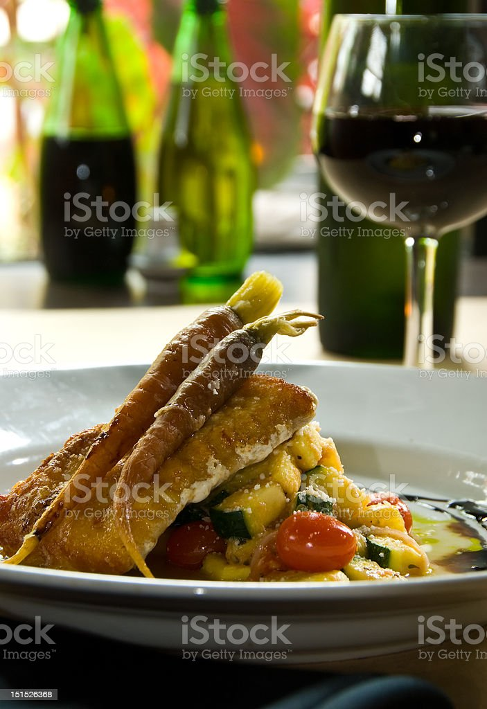 Pan grilled fish filet royalty-free stock photo