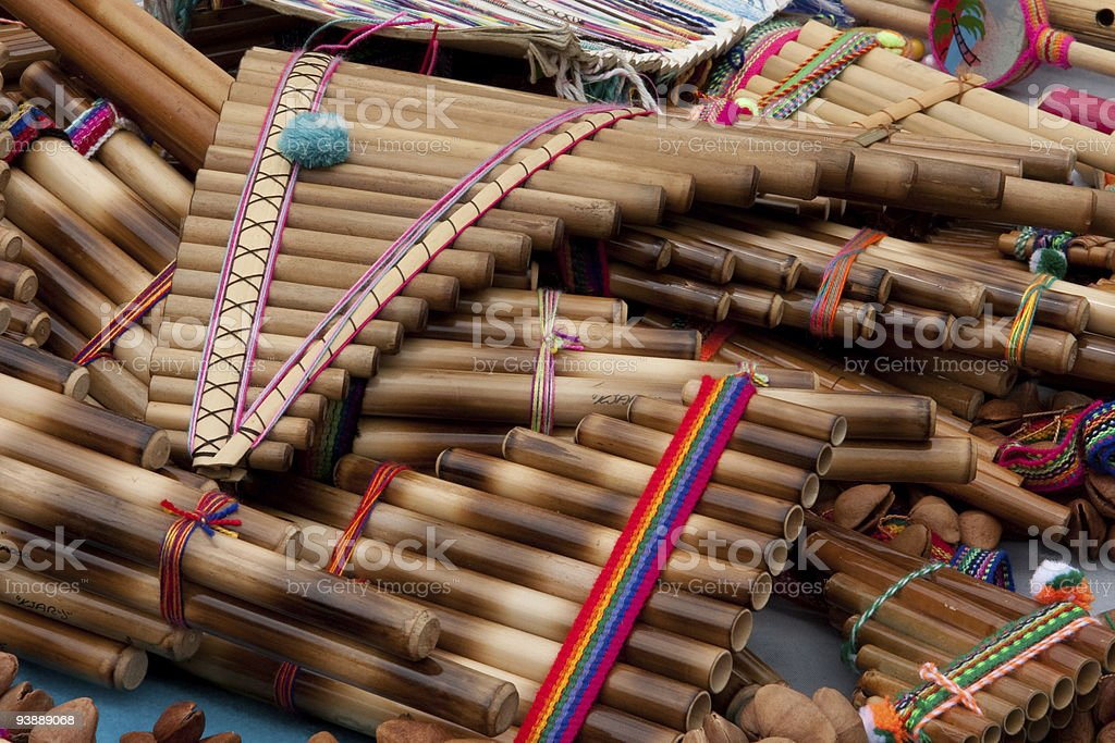 pan pipes stock photo