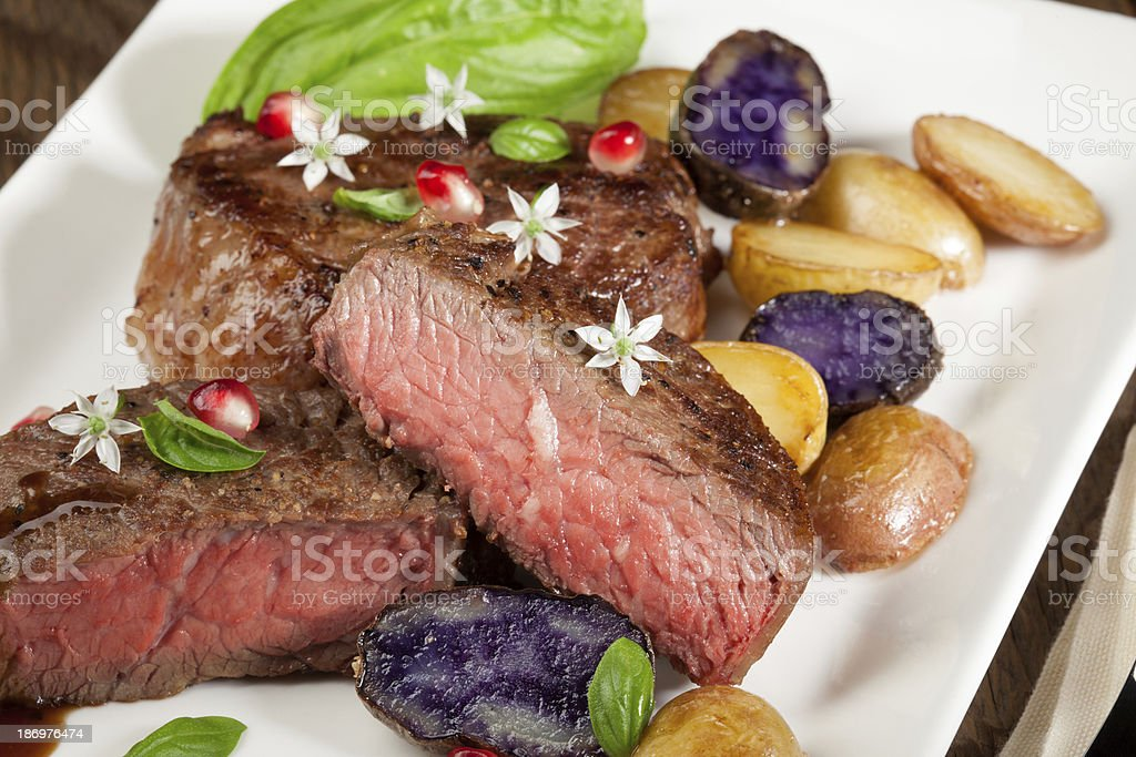 Pan Seared Steak royalty-free stock photo