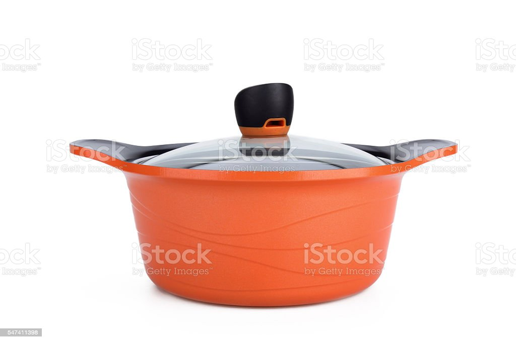 pan. Set of cook  on white background stock photo