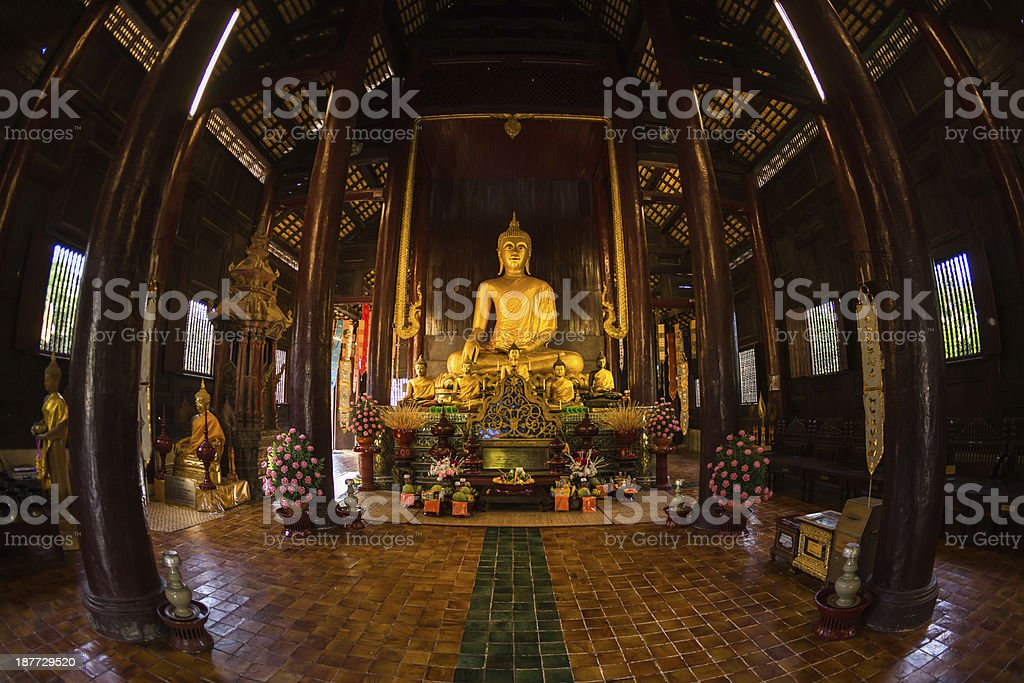 Pan Tao Temple located in Chiang Mai , Thailand royalty-free stock photo