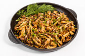 pan with fried mushrooms healthy Eating