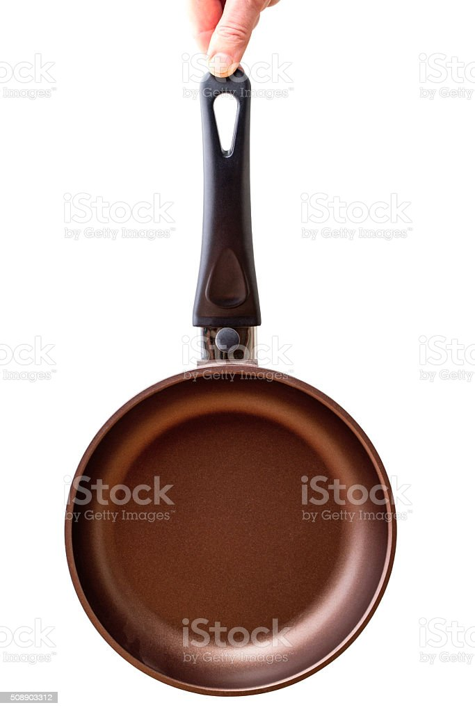 Pan with non-stick coating stock photo