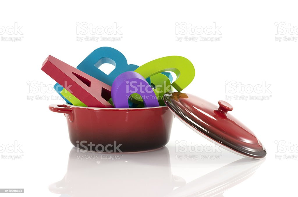 pan with text royalty-free stock photo
