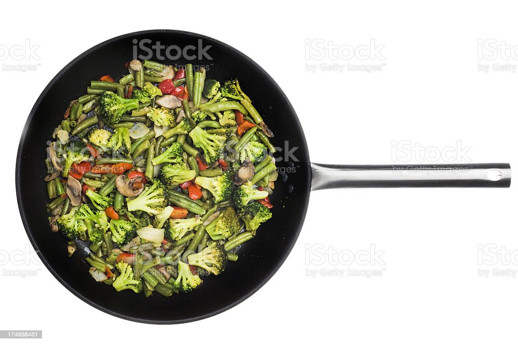 Pan with vegetables assortment royalty-free stock photo