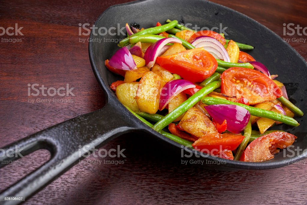 Pan with vegetables royalty-free stock photo
