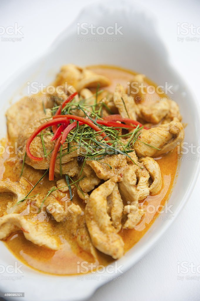 Panaeng  : Delicious and famous Thailand food royalty-free stock photo