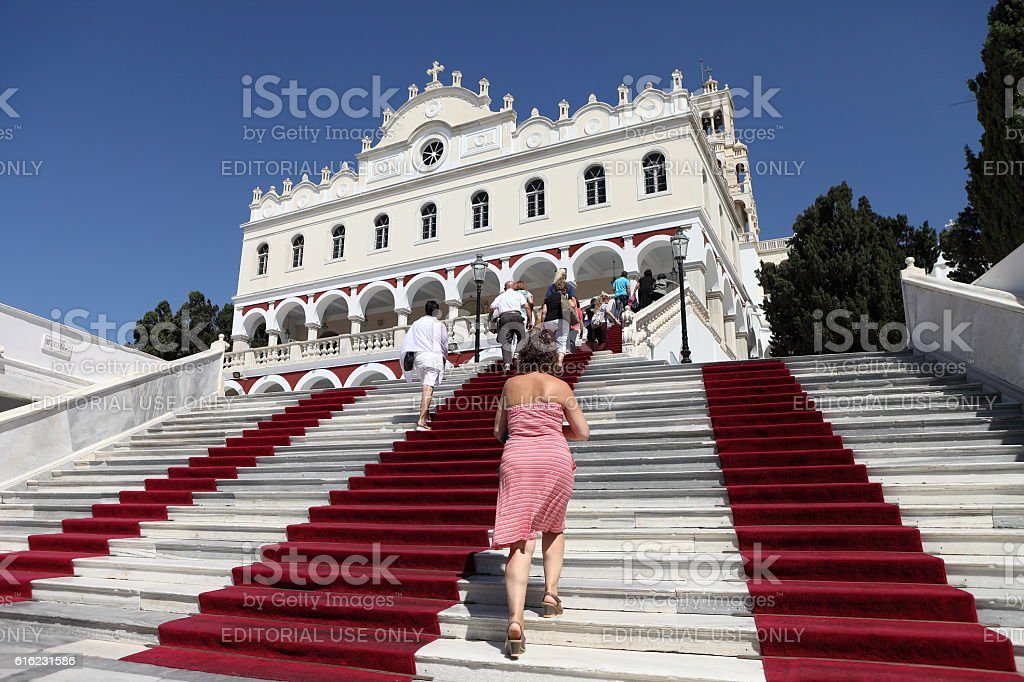 Panagia Evangelistria in Tinos, Greece stock photo