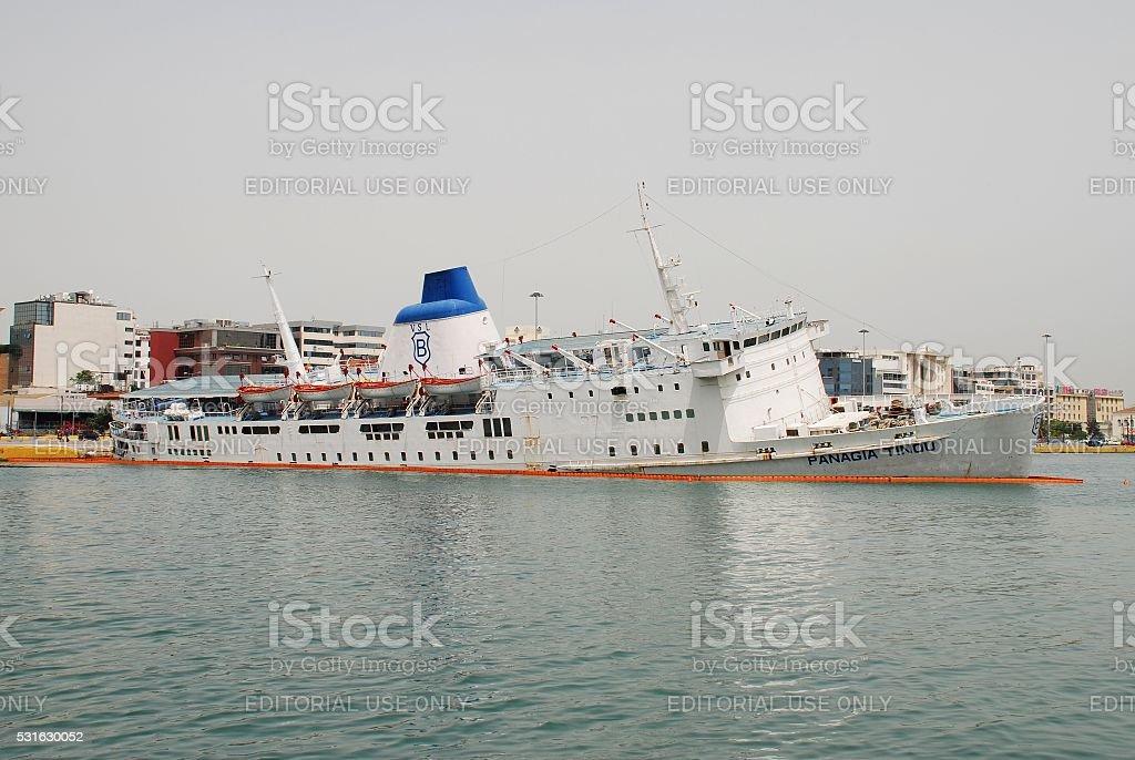 Panagia Tinou ferry sinking, Athens stock photo