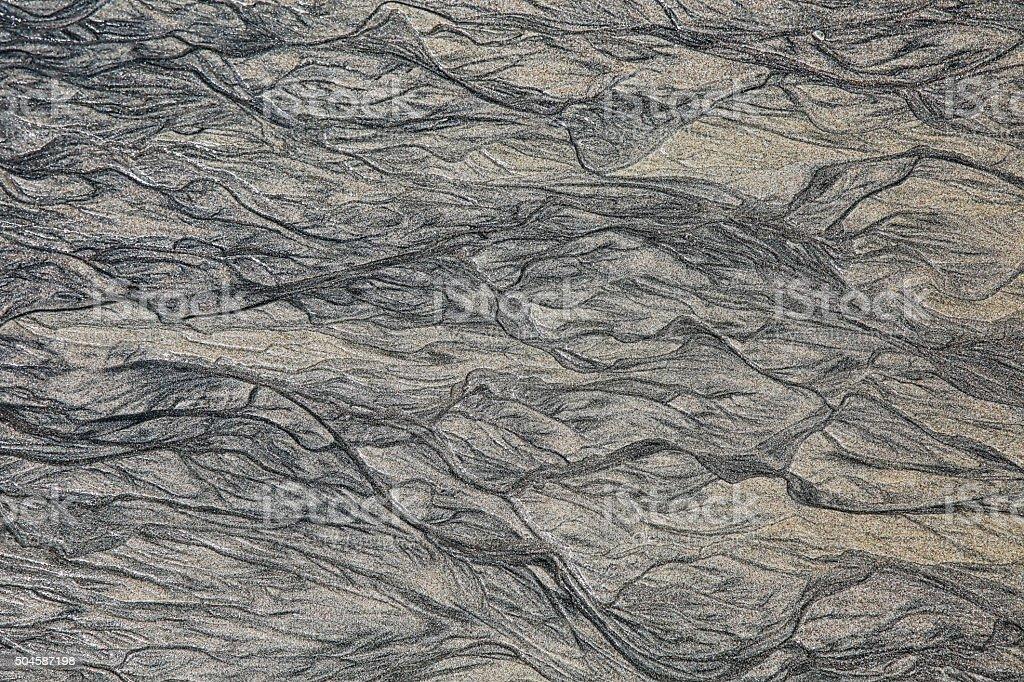 Panama Black Sand Abstract Background stock photo