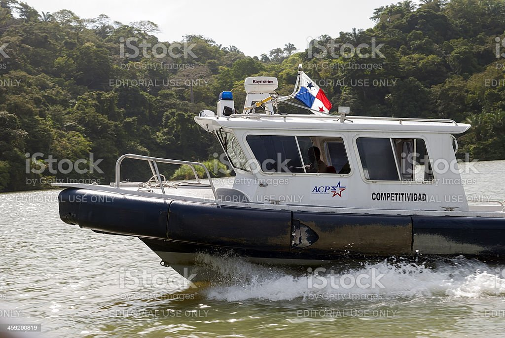 Panama Canal Authority boat royalty-free stock photo
