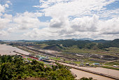 Panama Canal in a summer sunny day