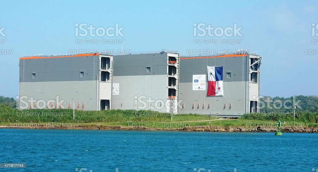 Panama Canal Locks Gates stock photo