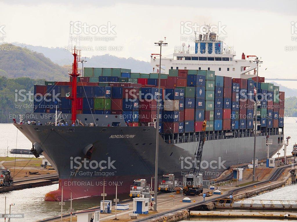 Panama Canal Miraflores Lock stock photo