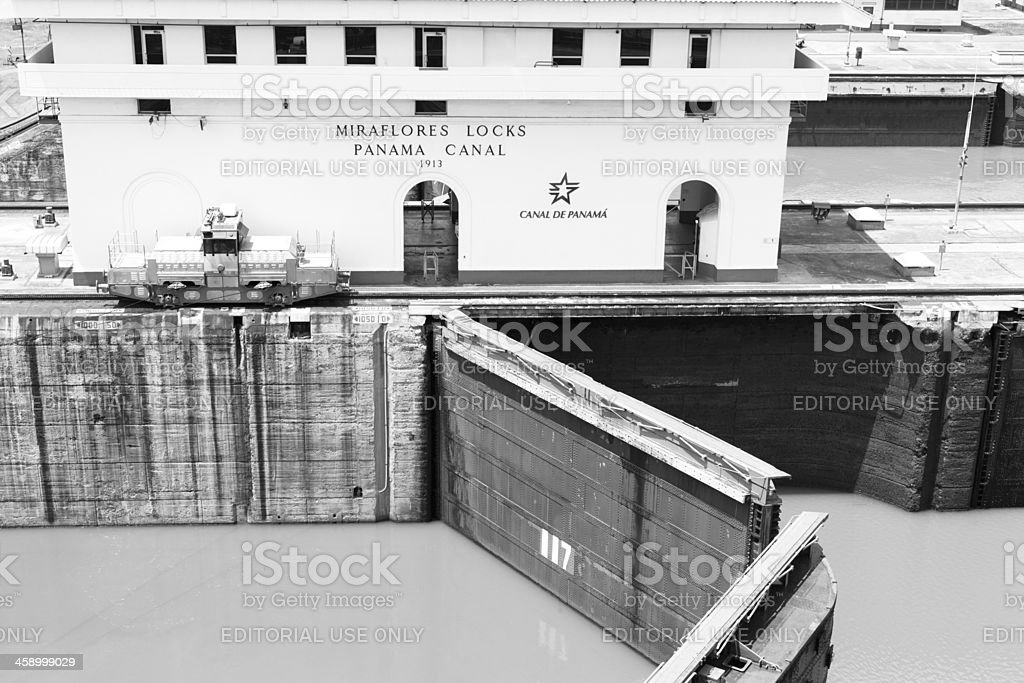 Panama Canal Miraflores Locks stock photo