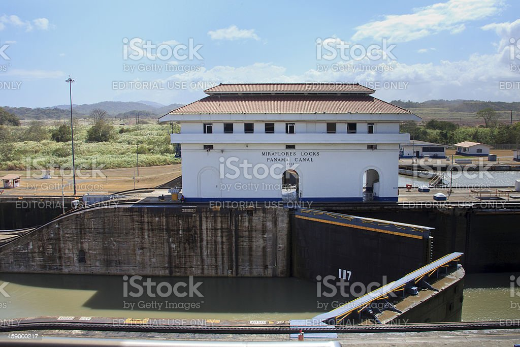 Panama Canal: Miraflores Locks stock photo