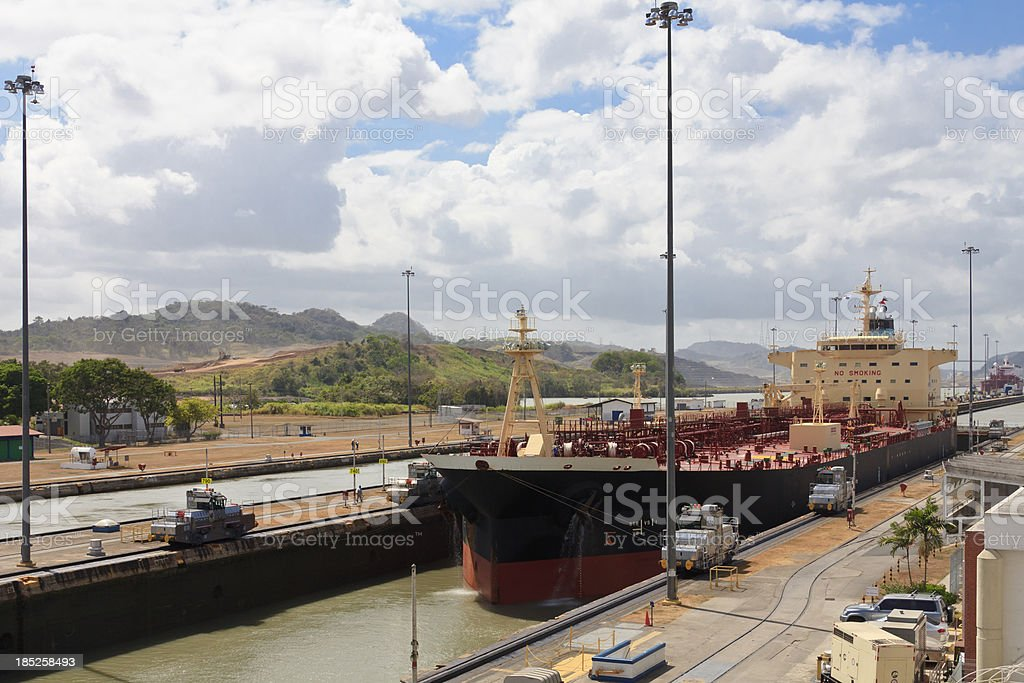 Panama CAnal: Old Locks and New Excavation stock photo