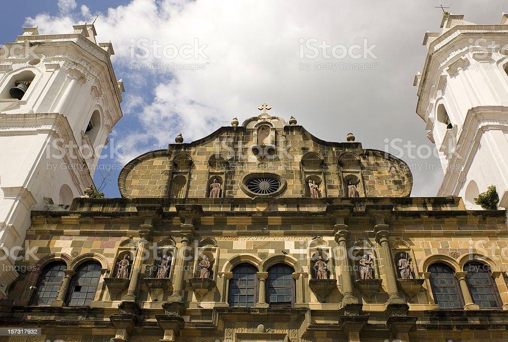 Panama Cathedral: Nuestra Senora de la Asuncion royalty-free stock photo