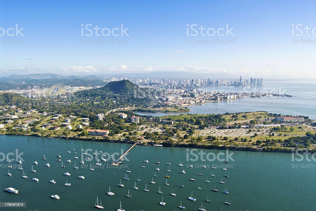 Panama City - Aerial View stock photo