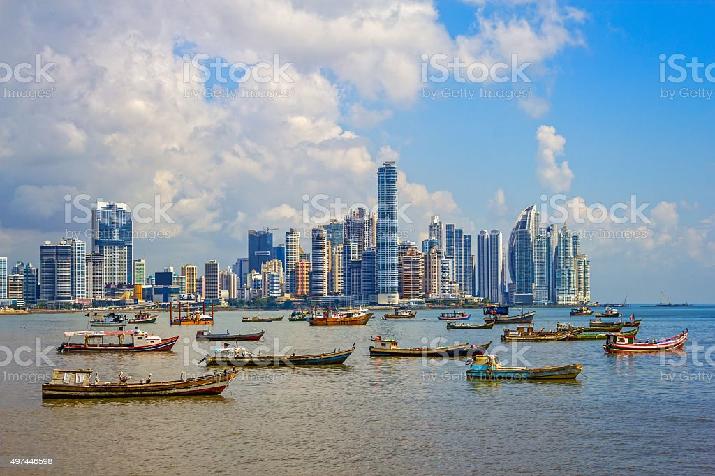 Panama City and Harbor Republic of Panama stock photo