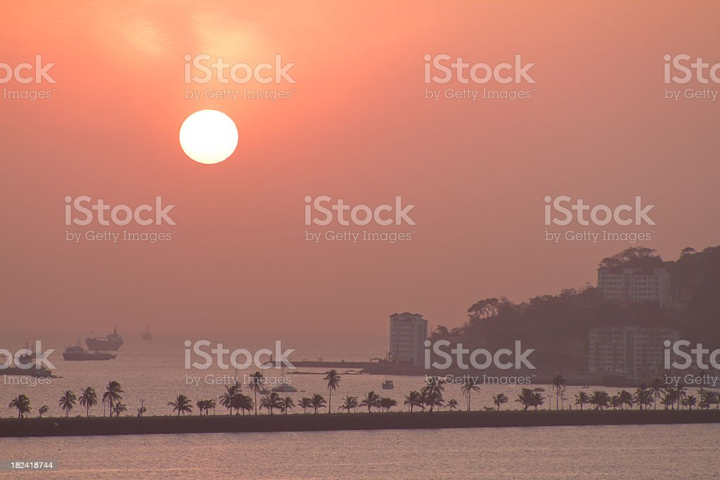 Panama City at Sunrise royalty-free stock photo