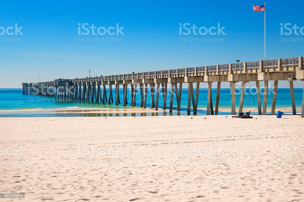 Panama City Beach Pier in Florida USA stock photo