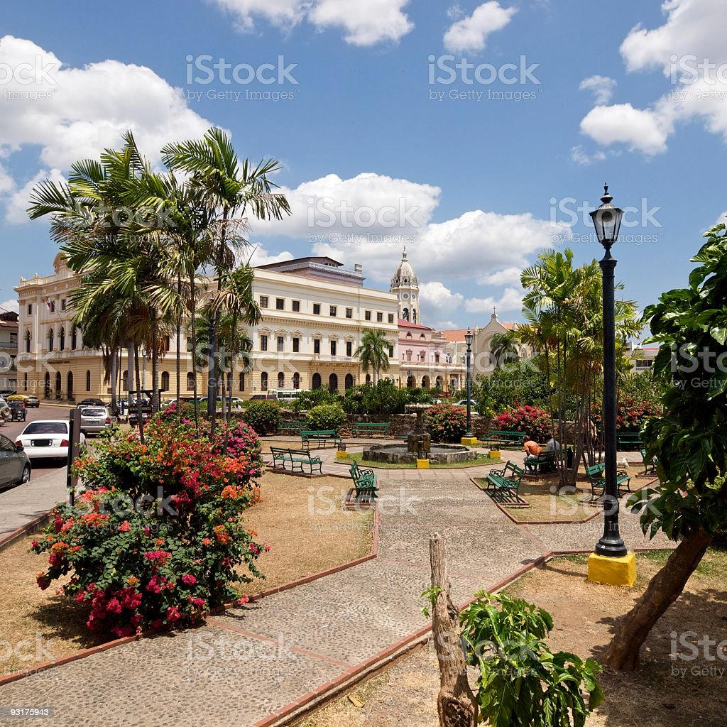 Panama City - Casco Viejo District stock photo