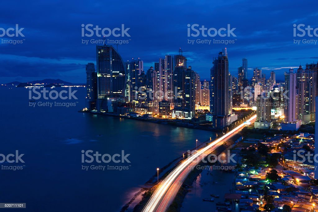 Panama City Nights stock photo