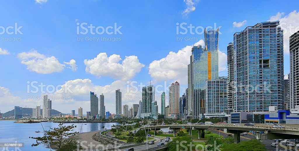 Panama City, Panama. Skyline, Financial District stock photo