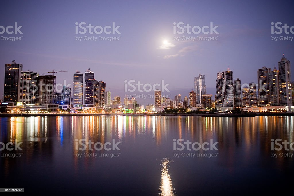 Panama City Reflections stock photo