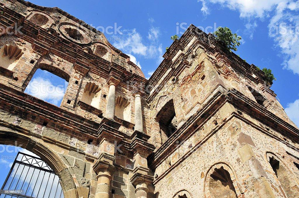 Panama city - ruins of the Jesuit Convent stock photo