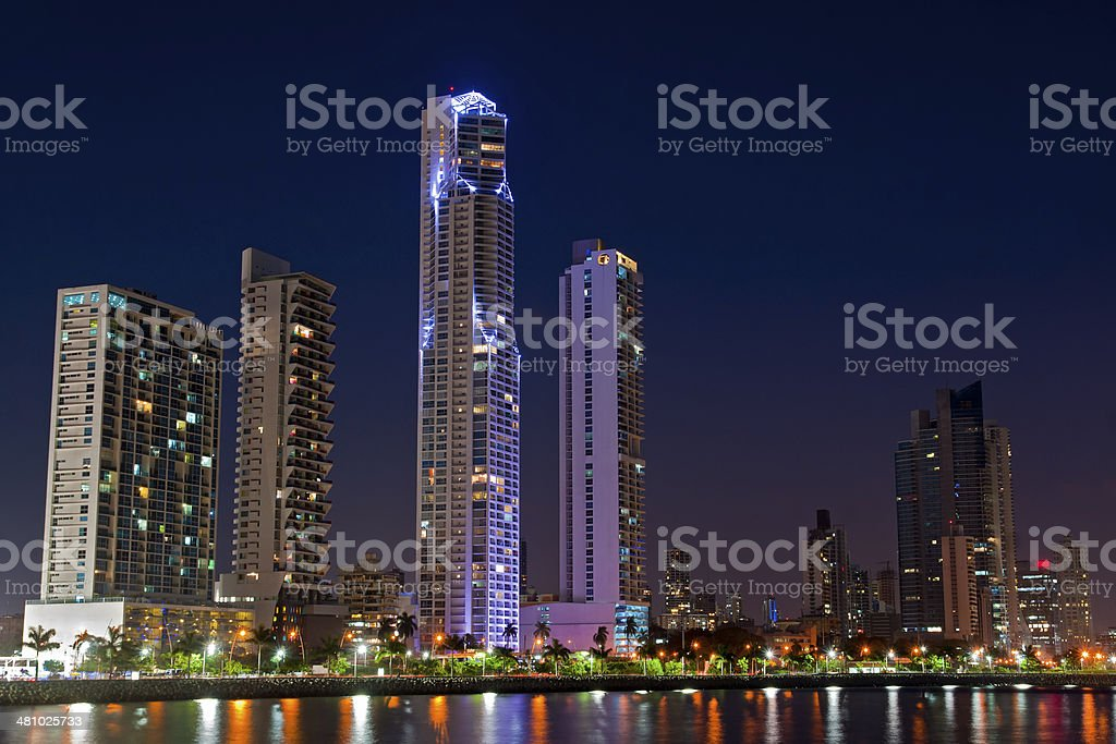 Panama City Skyline stock photo