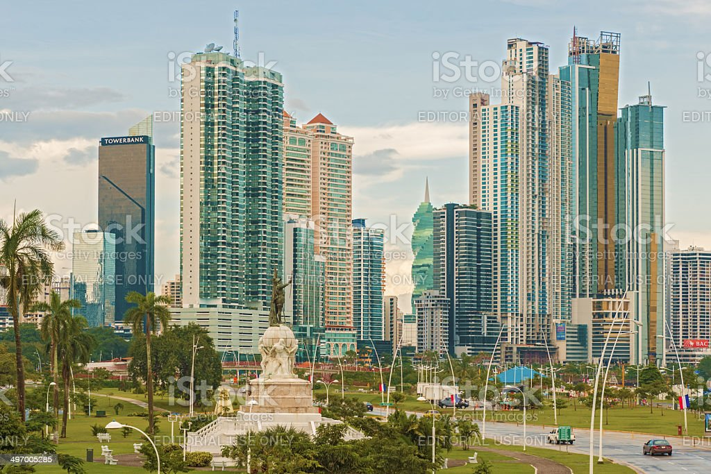 Panama City skyline. stock photo
