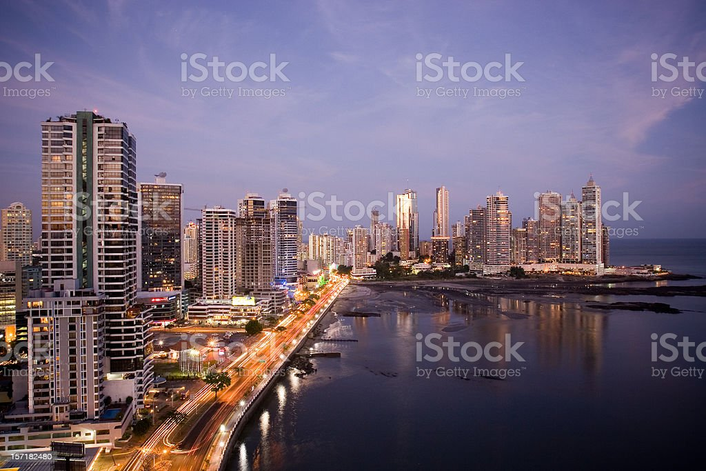 Panama City View stock photo