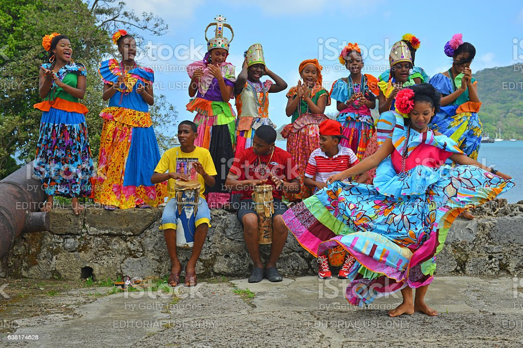 Panama Dancers stock photo
