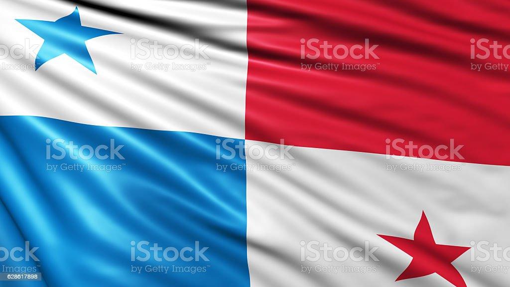 Panama Flag stock photo