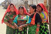 Panama: Four Kuna Women in Traditional Costume
