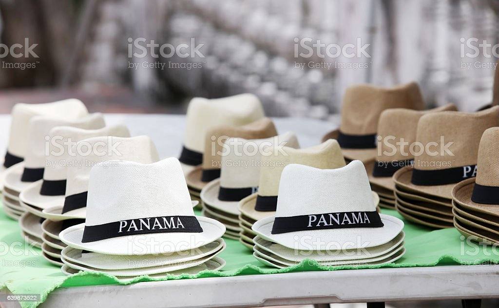 Panama hat stock photo