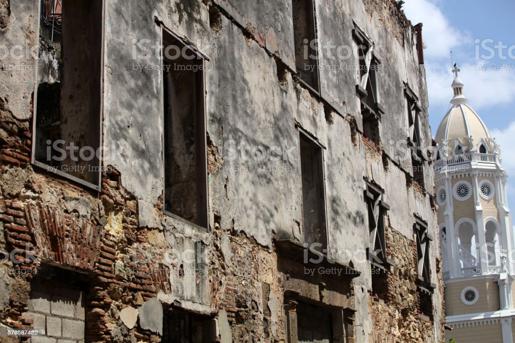 Panama old town stock photo